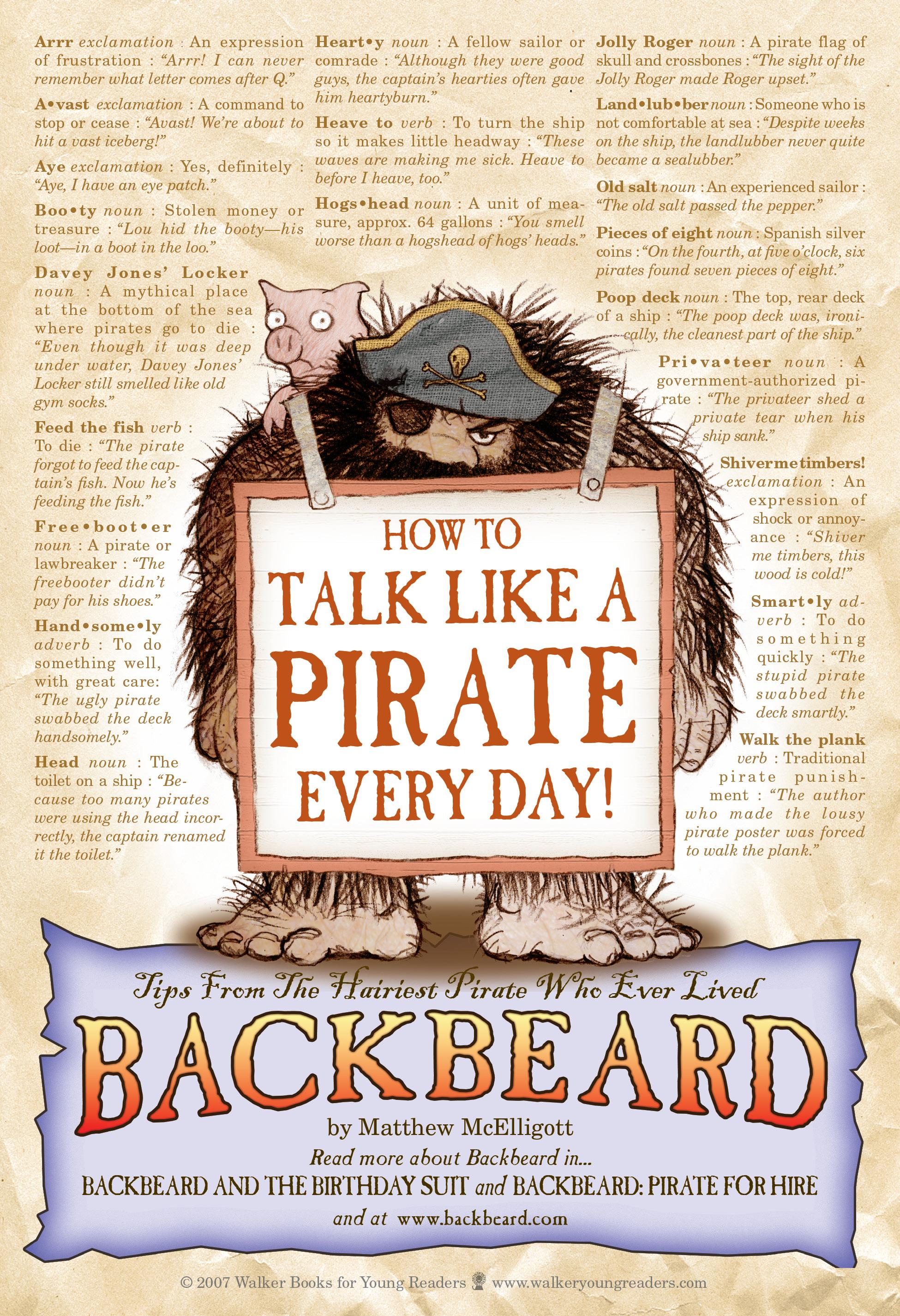 how to talk like a pirate translator
