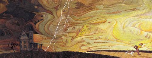 Spooky Book-stormy sky