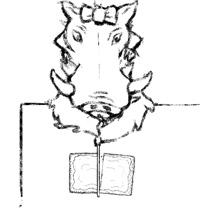 Warthog cutting poptart