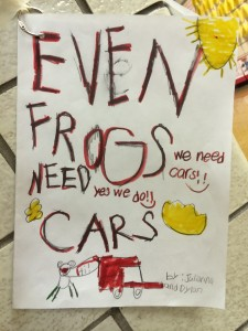 Even Frogs Need Cars